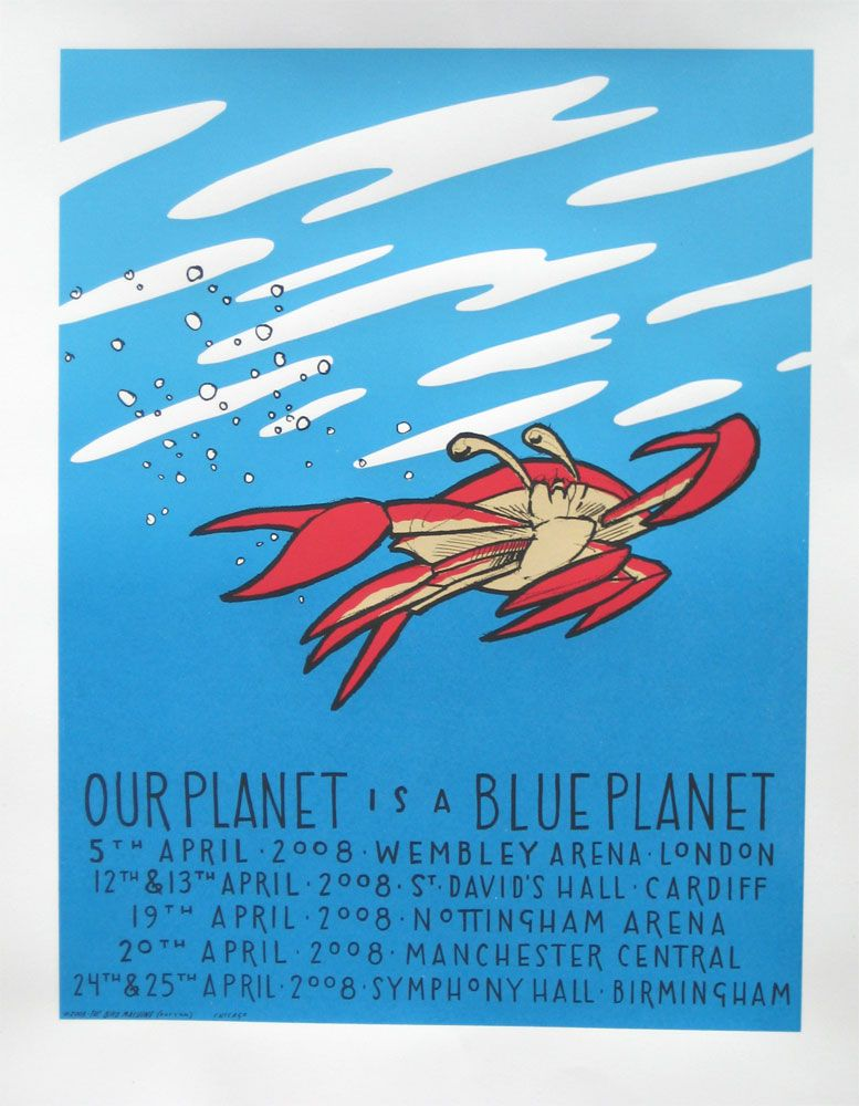 Blue Planet Live - Tour Poster - Crab