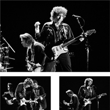 Bob Dylan & Neil Young 3 Up B&W Pigment Print