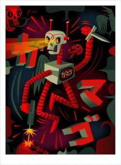 Deathbot Killing Spree Giclee