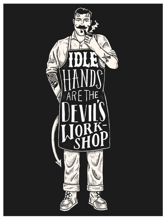 Idle Hands Art Print 2015