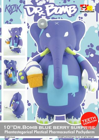 "Kozik Dr Bomb 10"" Blue Berry Surprise Teeth Version"