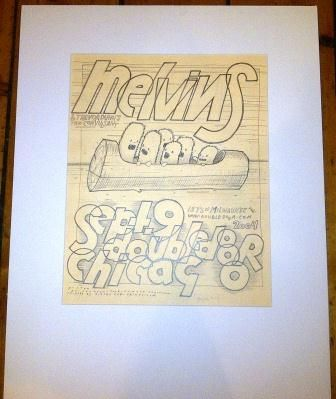 Melvins 09/09/04 Chicago Original Drawing