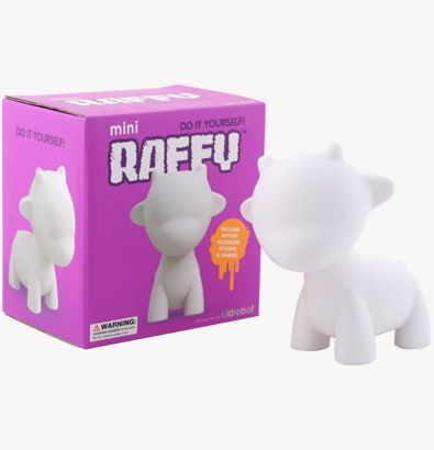 MUNNYWORLD mini RAFFY 4 Inch White Edition