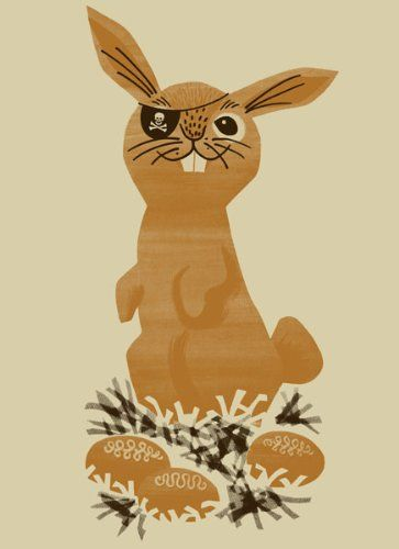 Pirate Bunny Art Print