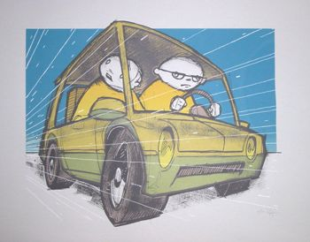 Tiny Car Art Print