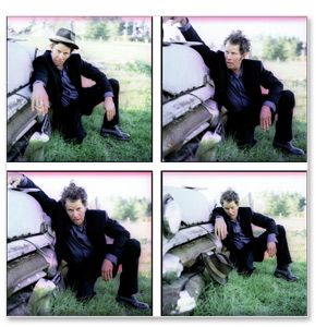 Tom Waits 4 Up Car Pigment Print