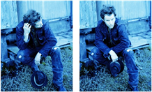 Tom Waits Blue 2 Up Pigment Print