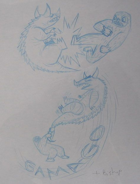 Yeti GamaGon Swing Original Sketch